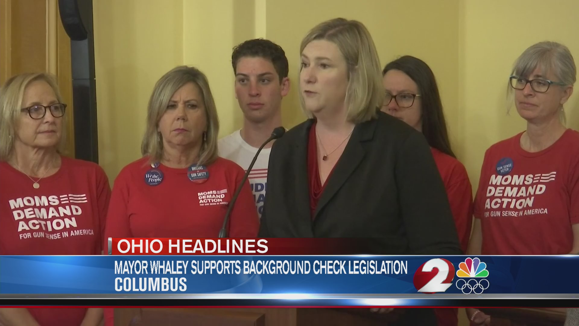 Mayor Whaley supports background check legislation