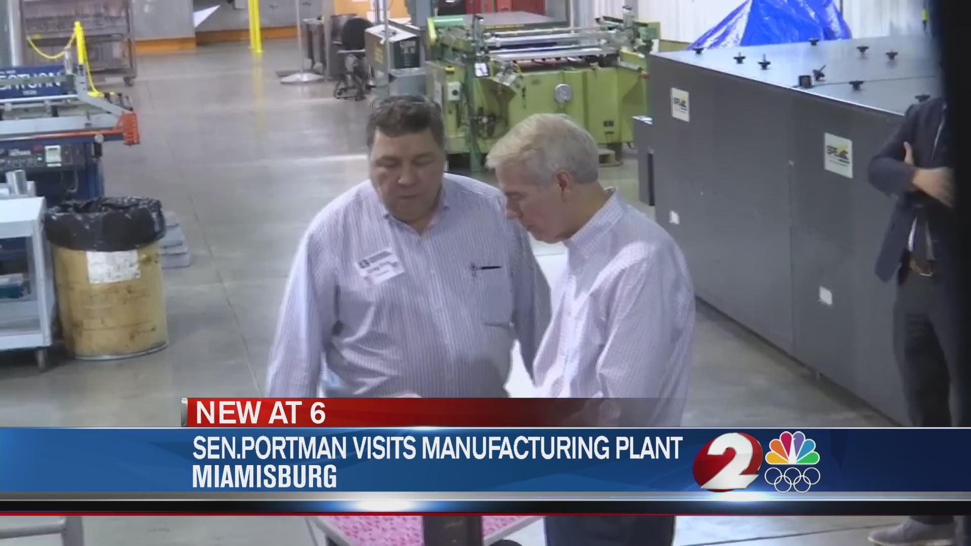 Sen. Portman visits manufacturing plant