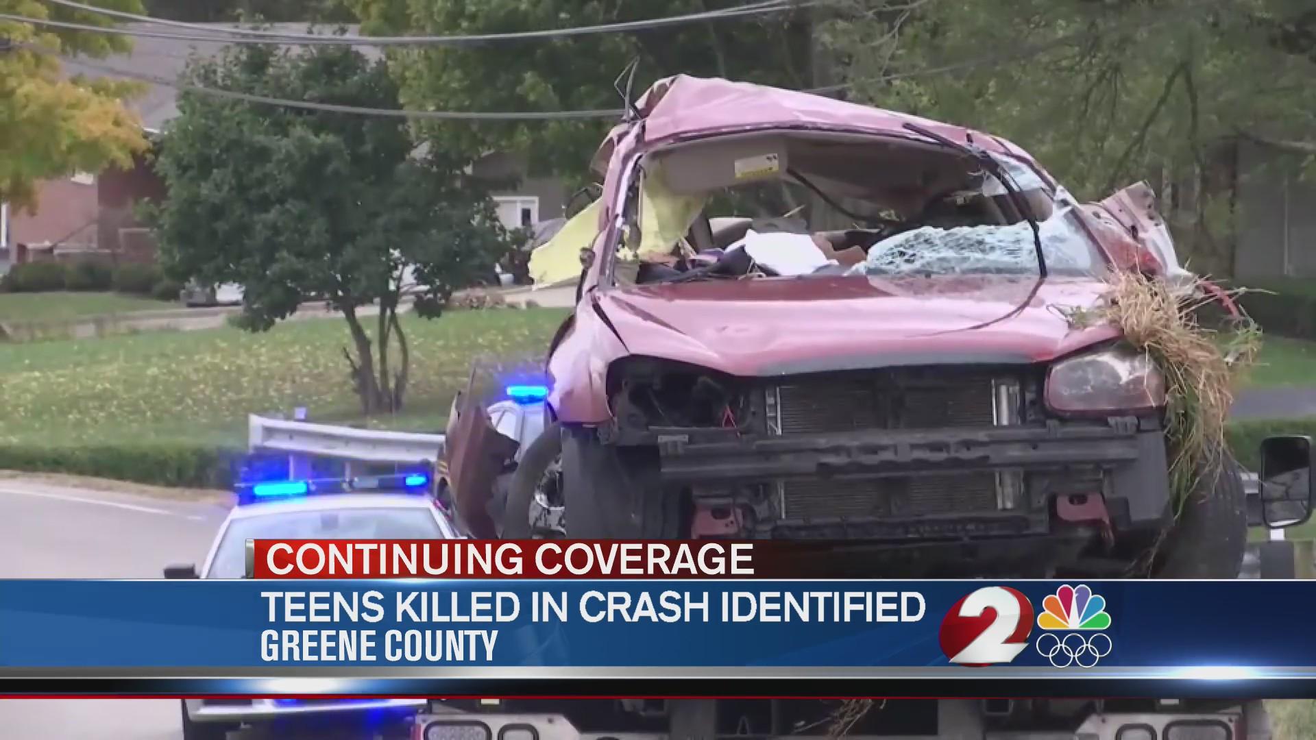Teens killed in crash identified
