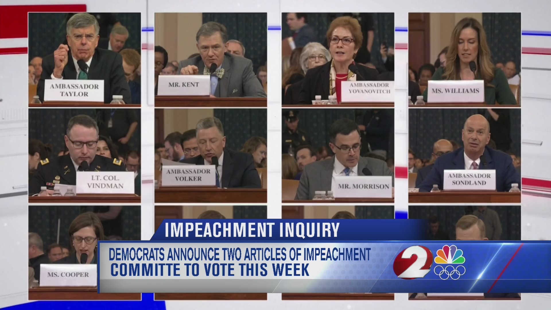 Democrats announce two articles of impeachment