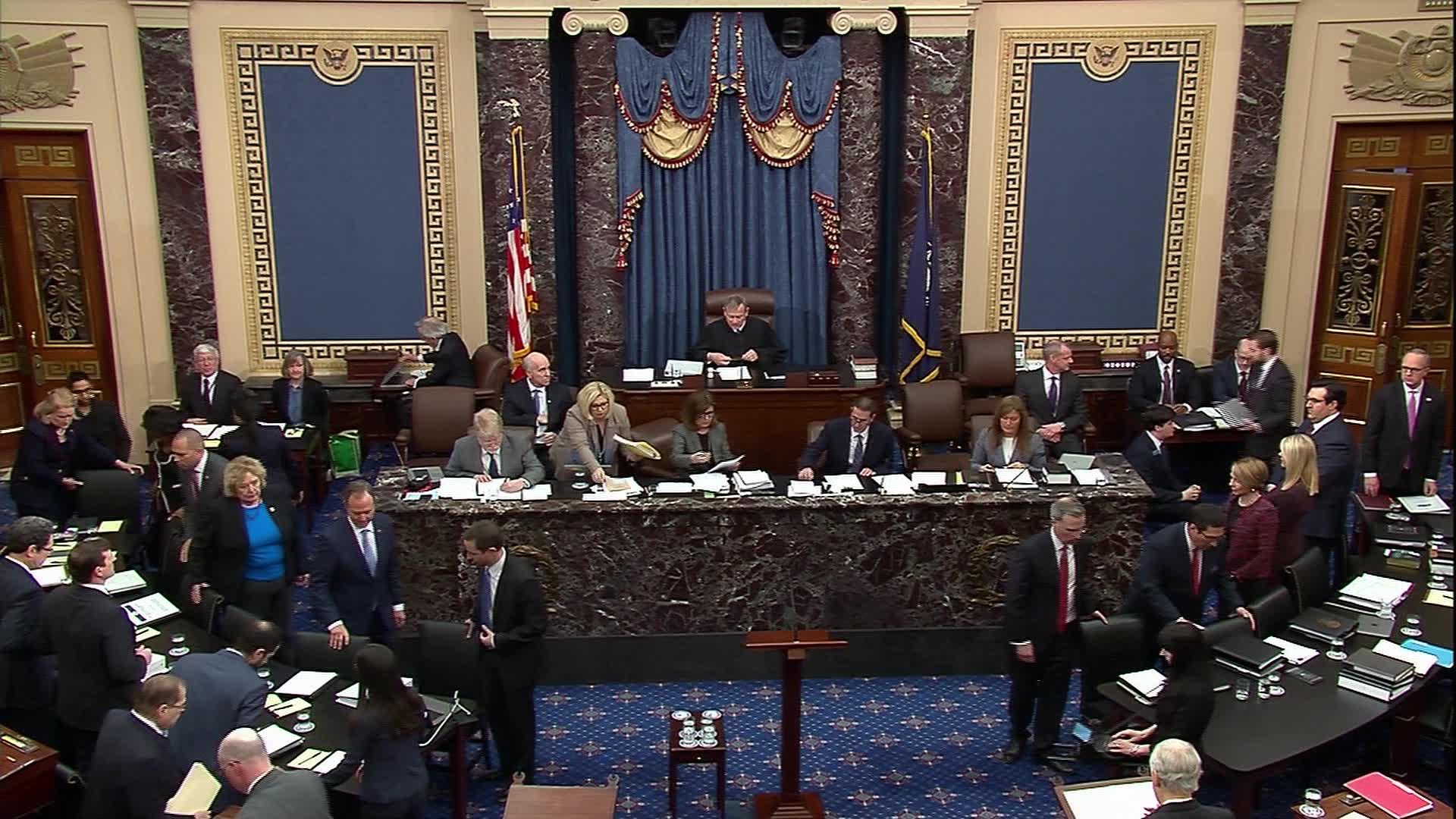 Senate debates impeachment trial rules