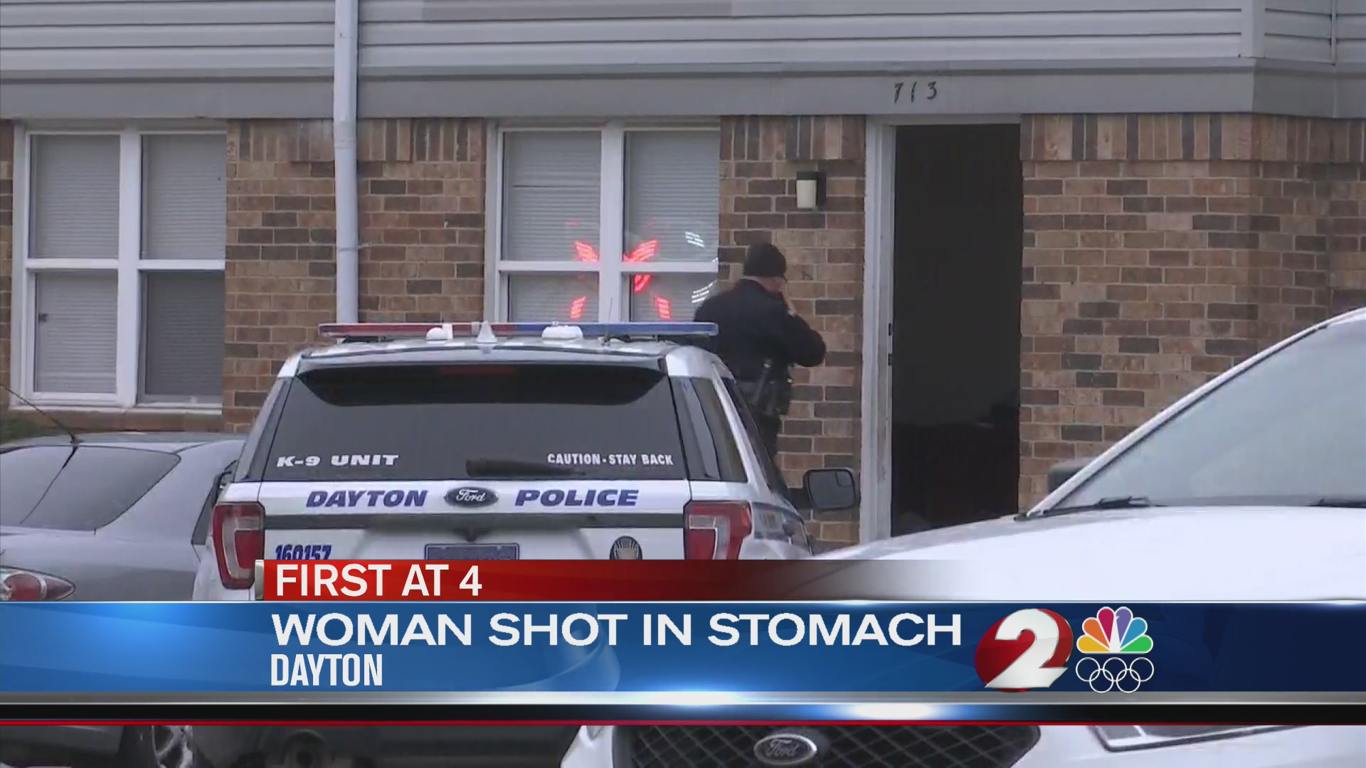 Woman shot in stomach
