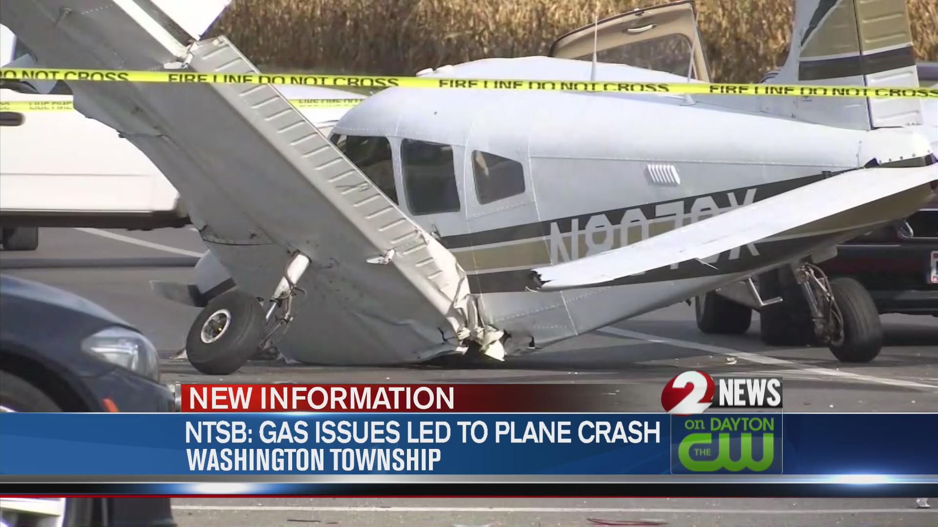Gas issues led to plane crash in Washington Twp.