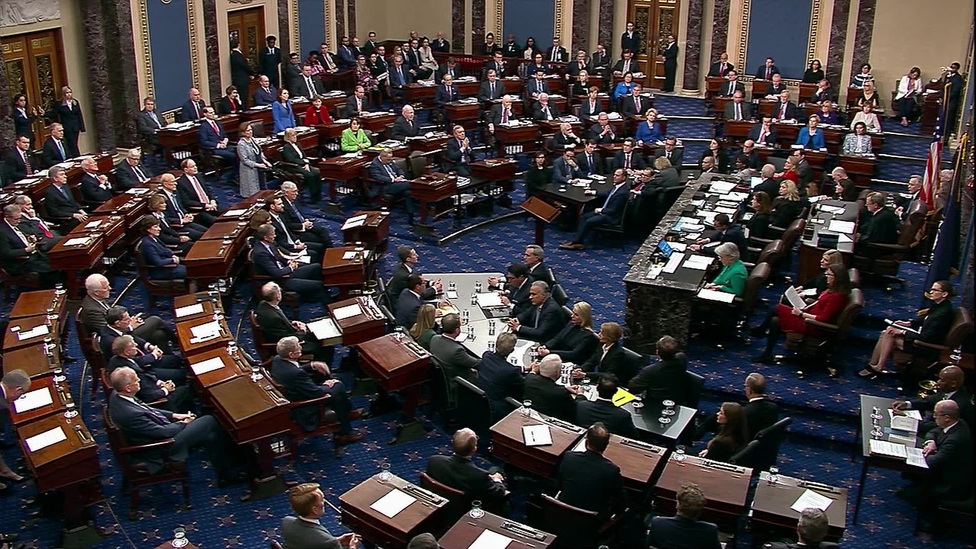 Senate votes to impeach President Trump