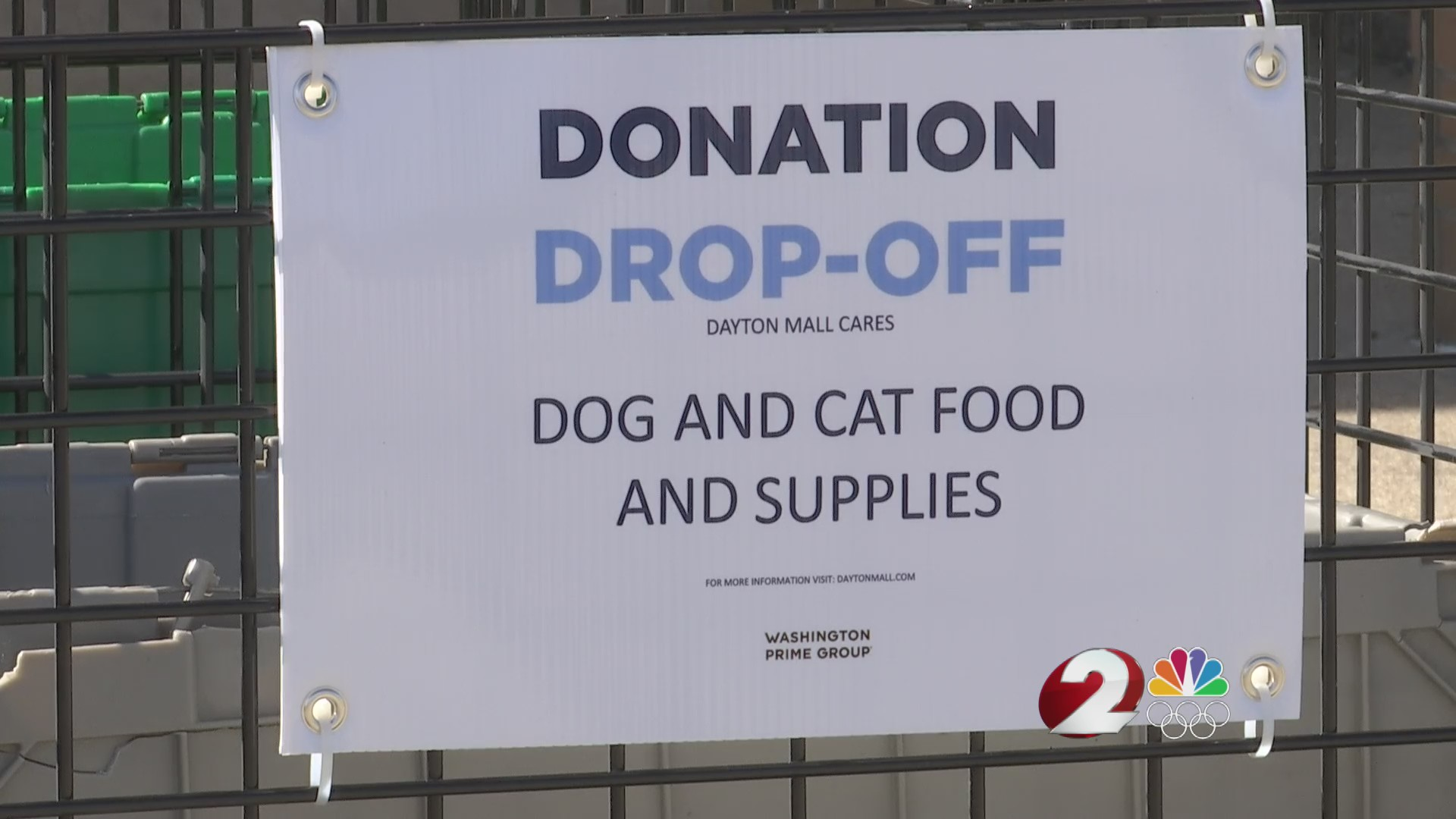 Dayton Mall donation drive