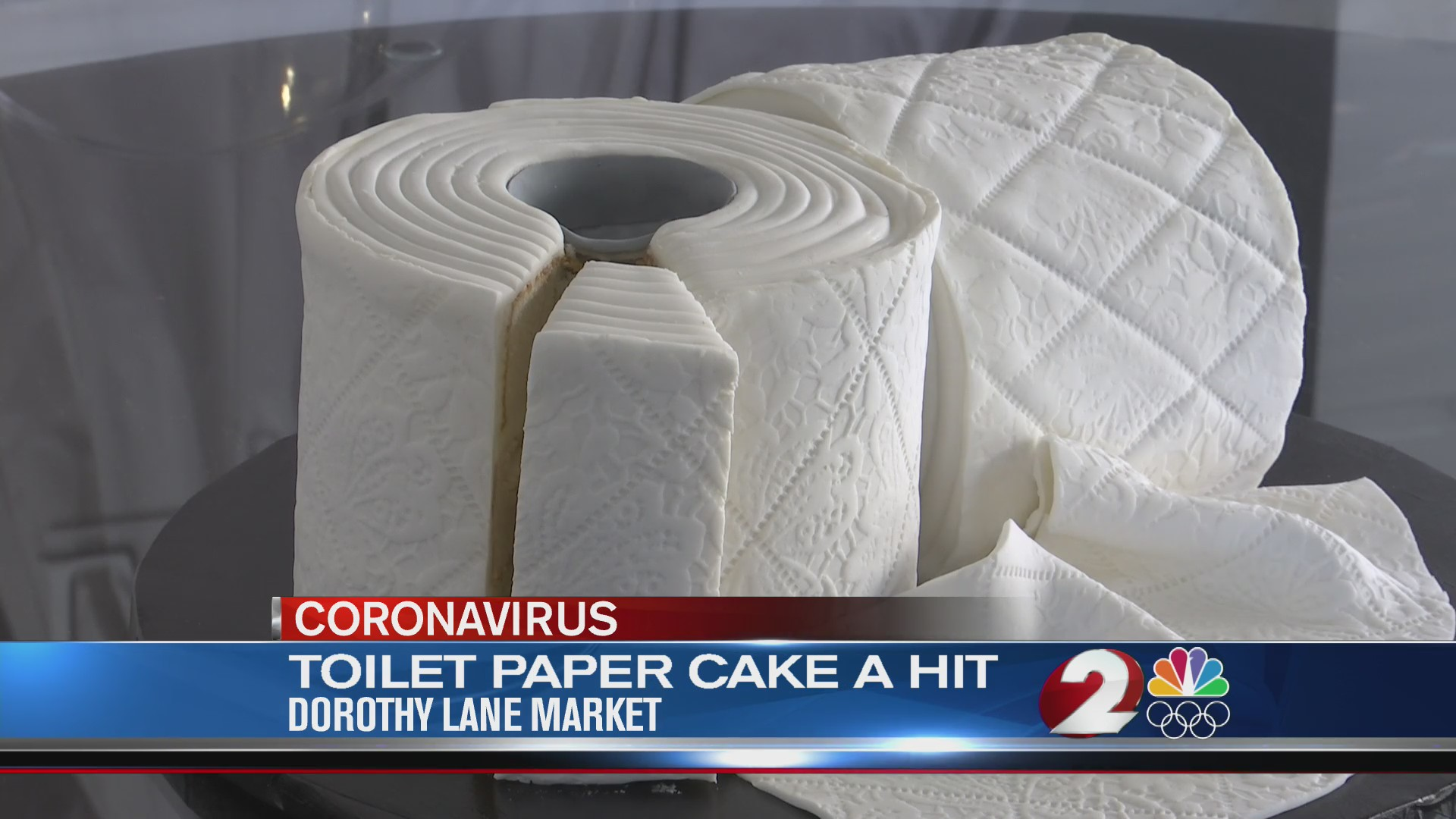 Toilet paper cake a hit at Dorothy Lane Market