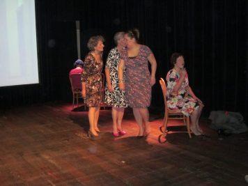 Els Ausema, Marieke Griffioen, Marije van Welie en Ine Wiebenga