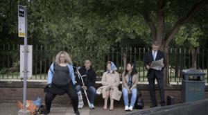 Crazy public dancing