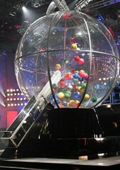 Over-sized bingo drum