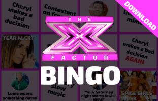 Reality TV Bingo Card