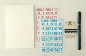 bingo card notebook