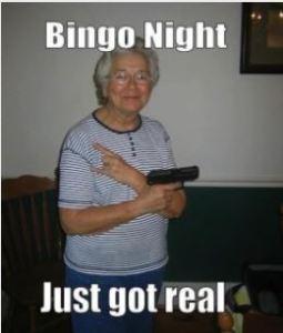 Grandma Goes To Bingo Night
