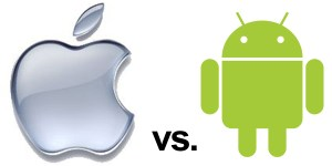 Apple vs Android symbols