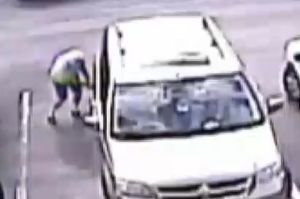 Man Slashes Van Tyres