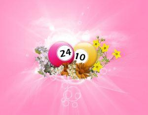 Bingo balls, sunshine and flowers