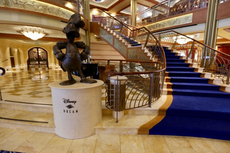Donald Duck statue on Disney Dream