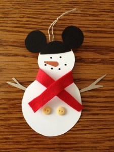 2 G Completed Mickey Snowman Ornament FC