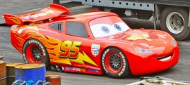Lightning McQueen at Lights. Motors, Action! Extreme Stunt Show