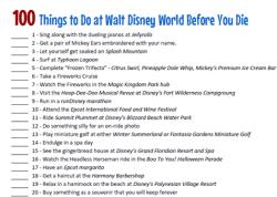 WDW 100 Things list