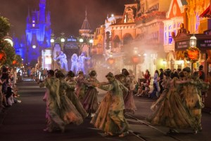 ghosts dancing in Mickey's Not So Scary Halloween Party - Copyright Disney