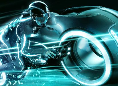 Tron Light Cycle Screenshot from Tron Legacy - disney