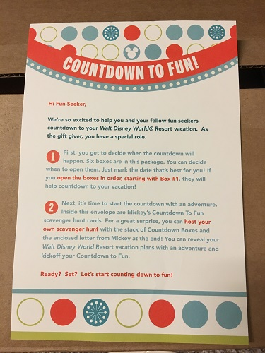 Countdown to Fun instructions