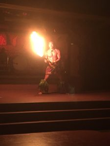 Fire Dancer at the Spirit of Aloha Dinner Show