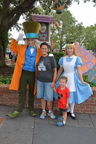 Mad Hatter and Alice Disney Character Meet and Greet