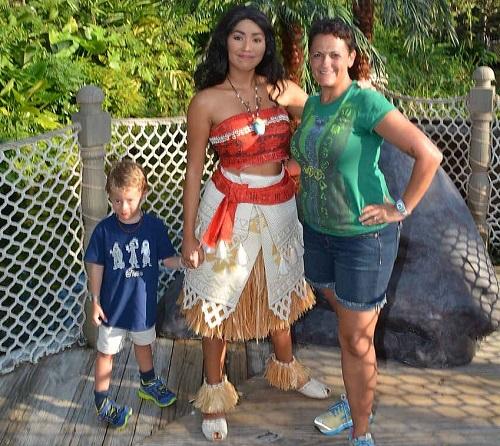 Meeting Moana at Mickey's Not-So-Scary Halloween Party