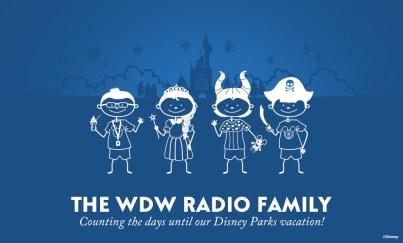 Disney Parks Stick Figure Family decal