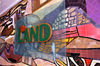 Entrance mosaics at The Land pavilion in Epcot