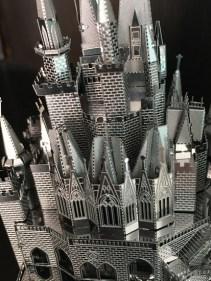 Back of assembled Cinderella Castle Metal Earth model