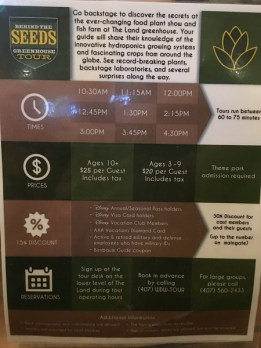 Behind the Seeds Tour Information Display