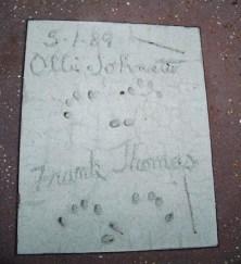 Ollie Johnston and Frank Thomas Magic of Disney Animation hand prints