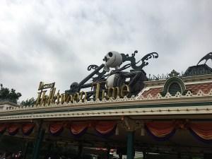 Halloween decorations in Hong Kong Disneyland
