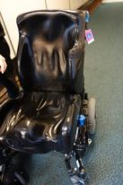Prepping the wheelchair for flight