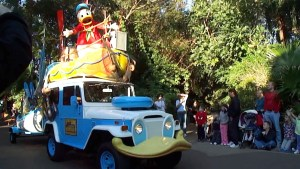 Donald in Mickey's Jammin' Jungle Parade