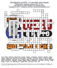 Muppets crossword