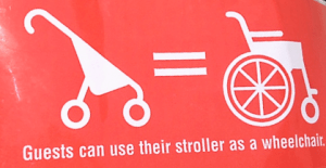 Stroller as Wheelchair tag
