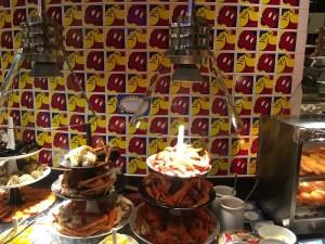 """alt=""""A selection of food on the menu at Chef Mickey restaurant at the Hong Kong Disneyland Resort."""""""