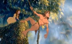 "alt=""screen image of Jane and Tarzan from the film Tarzan"""