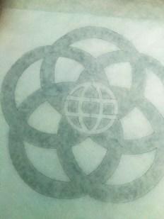 DIY Epcot Logo Tees tracing the logo