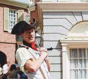 "alt=""James ""J.J."" Jefferson, the town crier of Liberty Square."""