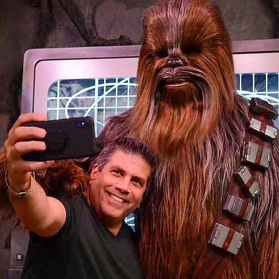 Lou Mongello and Chewie