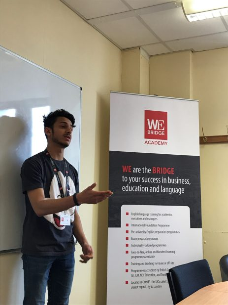 Student, Haitham, talking about his experience at WE Bridge in 2017