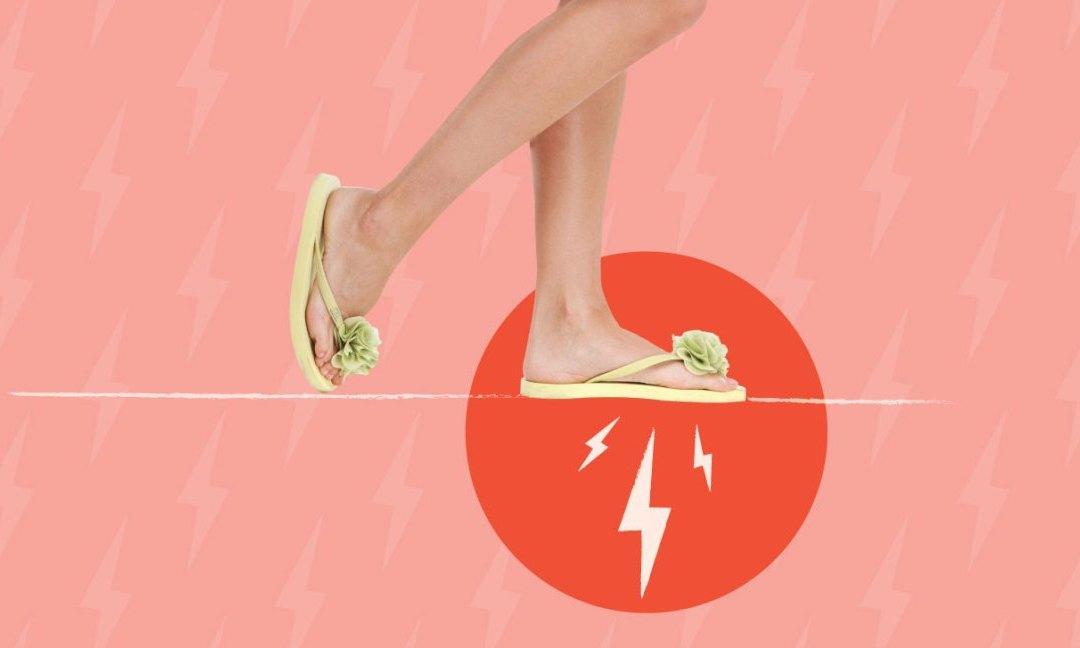 flip flop hurts foot