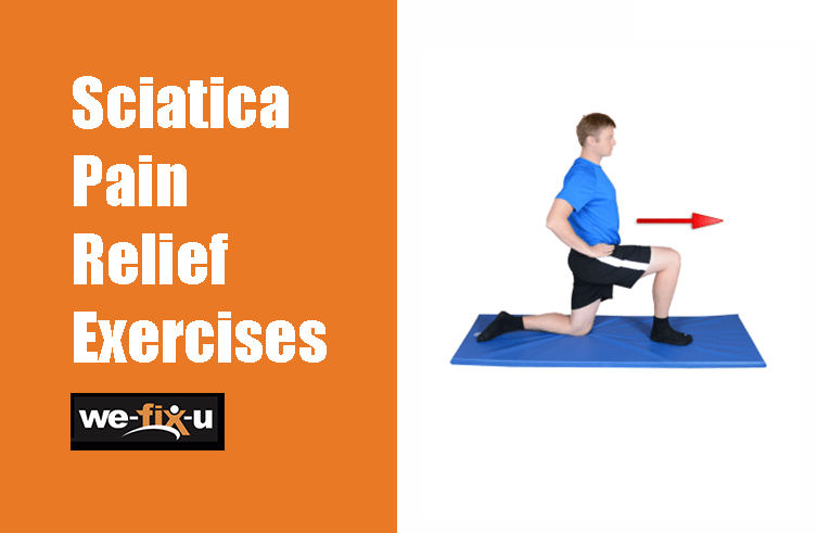 a person doing sciatica pain relief exercise on a mat