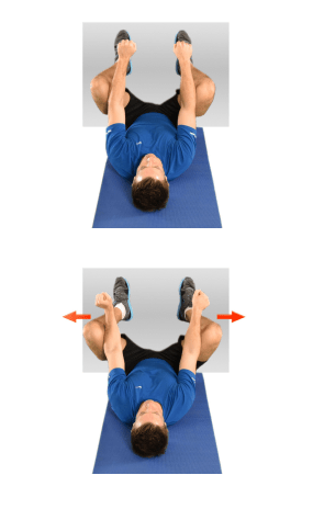 Person doing Adductor Stretch off Wall