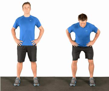 man doing mini squat
