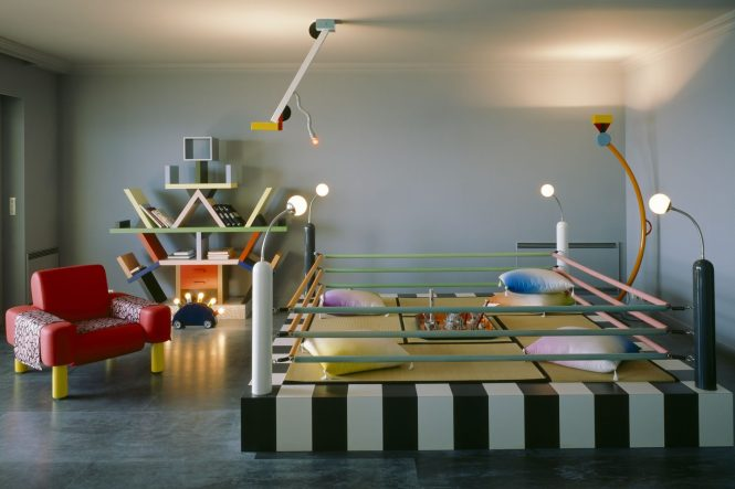 How Key Moments Of Design History Collided In 1983 Karl Lagerfeld And His Memphis Apartment